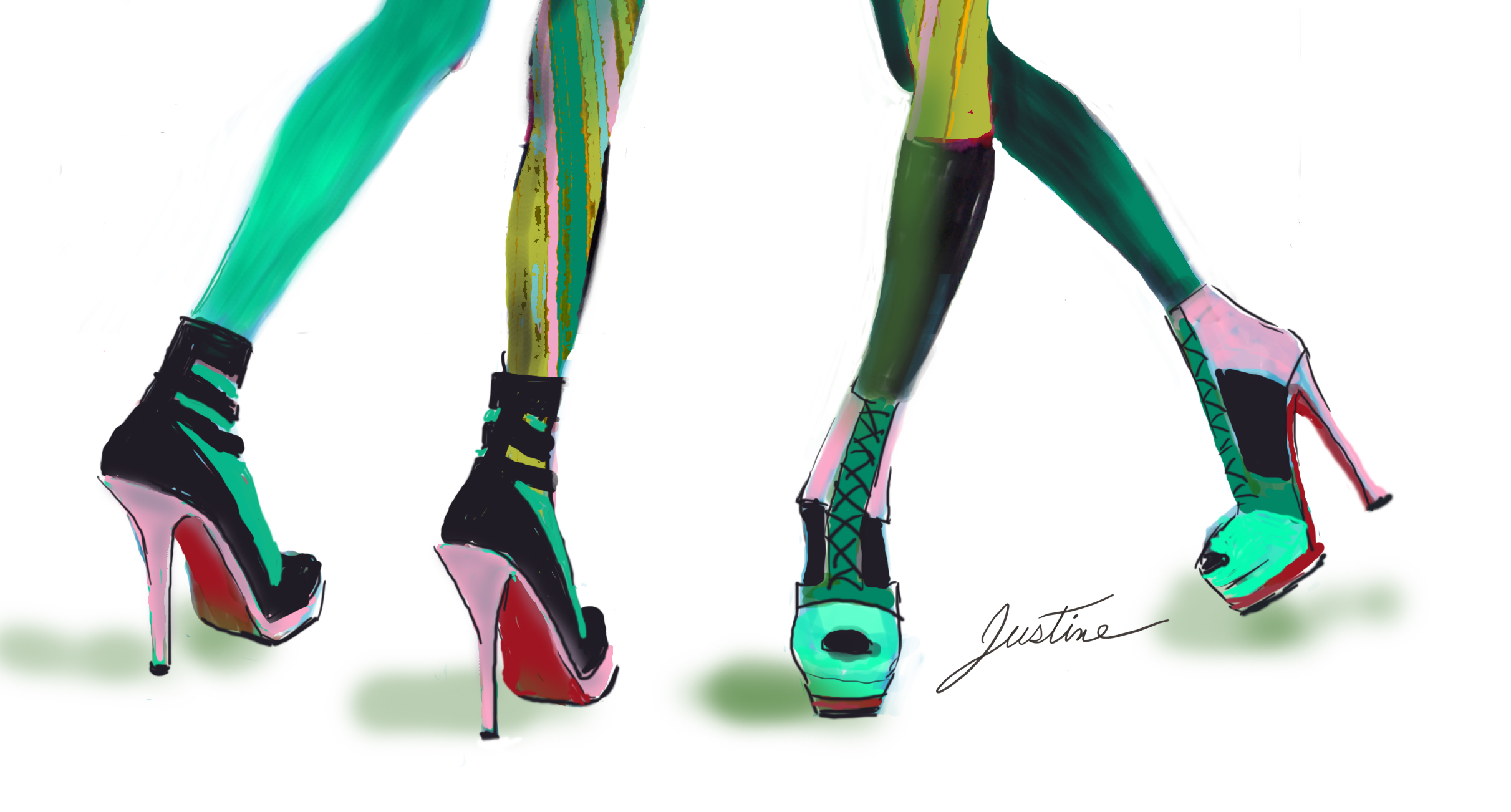 Drawing Fashion Shoes Feet