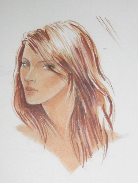 Fashion Face: Marker & Colored Pencil | Justine Limpus Parish\'s Blog