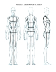 Female - FLATS - body template - lean athletic