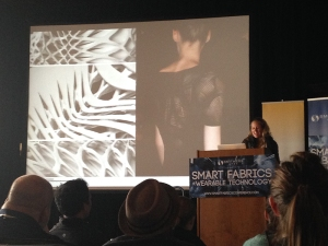 Julia Koerner in collaboration with Iris van Herpen and 3-D printing Co. Materialize