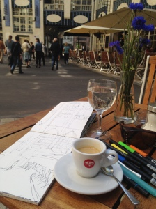 sketching at Hackescher Markt